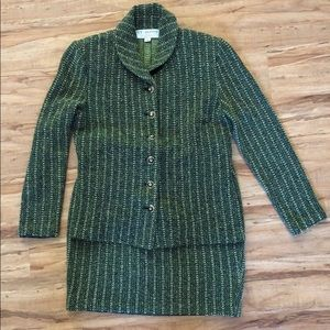 St. John Collection Green Suit